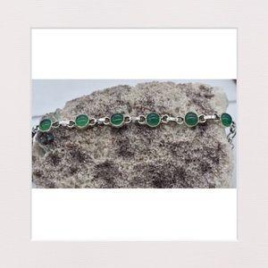 Jewelry - Genuine Green Onyx & Sterling Silver Bracelet